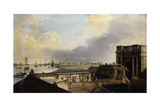 A View of Calcutta Taken from Fort William Giclee Print by William Hodges