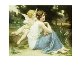 Love's Whisper Giclee Print by Guillaume Seignac