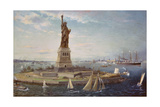 Liberty Island, New York Harbor, 1883 Giclee Print by Fred Pansing