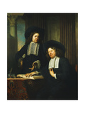 Two Gentleman Seated at a Table Giclee Print by Bartolomeus Van Der Helst