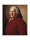 Portrait of Willem Bentinck, 1st Count Bentinck (1704-1774), Half-Length, in a Red Velvet Coat,… Giclee Print by Jean-Etienne Liotard