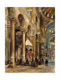 Interior of the Basilica Di San Marco, Venice, 1884 Giclee Print by Rudolph von Alt