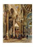 Interior of the Basilica Di San Marco, Venice, 1884 Giclee Print by Rudolph von Alt