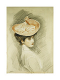 Portrait of a Lady, Thought to Be Madame Helleu Giclee Print by Paul Cesar Helleu