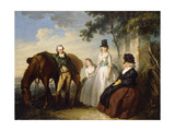 A Group Portrait of the Parker Family Giclee Print by Henry Singleton