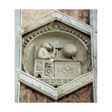 Gionitus. Inventor of Astronomy, (1334-1336). The Exagonal Panels of the Campanille of Florence… Giclee Print