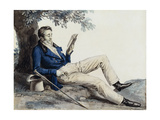 A Young Man Reading under a Tree Giclee Print by Julien Leopold Boilly