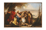 Christ Healing the Blind Man, C.1751 Giclee Print by Domenico Tiepolo