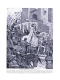 Becketts Procession Through France, 1920's Giclee Print by Richard Caton II Woodville