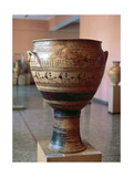 Ceramic Krater from Dipylon Necropolis Belonging to Geometric Recent Style. 8th Century B.C.… Giclee Print