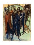 Prostitute, Friedrichstrasse, Berlin (Berlin Street Scene); Kokotten, Friedrichstrasse, Berlin… Giclee Print by Ernst Ludwig Kirchner