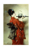 The Japanese Lady; La Japonaise, 1888 Giclee Print by Clemens von Pausinger
