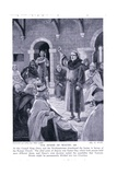 The Synod of Whitby Ad664, 1920's Giclee Print by Archibald Webb