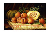 Melons, Peaches and Pineapple Giclee Print by Levi Wells Prentice