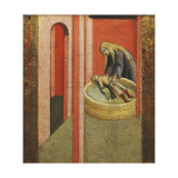 Saint Elizabeth of Hungary Reviving to Life a Child Drowned in a Well Giclée-tryk af Pietro Lorenzetti