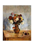 Les Dahlias, 1885 Giclee Print by Paul Gauguin