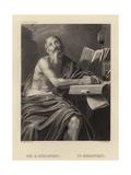 St Hieronymus Lámina giclée por  Domenichino
