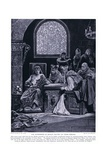 The Murderers of Becket Depart on their Errand, 1920's Giclee Print by Richard Caton Woodville II