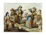 A Neapolitan Song, 1882 Giclee Print by Saviero Xavier Della Gatta