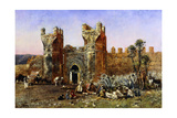 At the Gate of Shelah, Past and Present, C.1878 Giclee Print by Edwin Lord Weeks