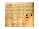 Facsimile of the Convention for the Purchase of Louisiana by the United States, April 30, 1803 Giclee Print