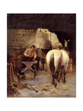 The Blacksmith's Shop Giclee Print by William Woodhouse
