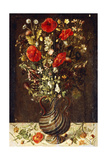 Poppies, Buttercups, Daisies, Cornflowers, Thistles and Other Wild Flowers in a Facon De Venise… Giclee Print by Ludger Tom The Younger Ring