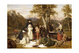 The Monks of Melrose Made Good Kaill on Fridays When They Fasted, They Neither Wanted Beef Nor… Giclee Print by Charles Landseer
