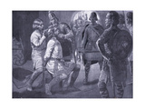 Ceowulf, King of Northumbria, Being Forcibly Shorn Ad731, 1920's Giclee Print by Ernest Prater