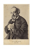 Aleksey Pisemsky, Russian Novelist and Playwright Giclee Print by Ilya Efimovich Repin