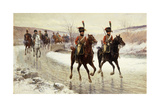 Napoleon and His Escort Giclee Print by Jan Van Chelminski