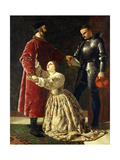 Duke Frederick Banishing Rosalind from His Court Giclee Print by Frederick Richard Pickersgill
