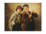 Two Boys with Harmonica Giclee Print by Karl Witkowski