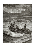 Henry Hudson (1565-1611) Abandoned by His Crew. Engraving Giclee Print by Charles Barbant