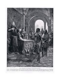 John Rejoices to Hear of Fitz-Peters Death Ad1198, 1920's Giclee Print by Richard Caton II Woodville
