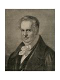 Alexander Von Humboldt (1769-1859). Engraving Giclee Print by Adolf Neumann