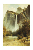 Bridal Falls, Yosemite Giclee Print by Thomas Hill