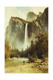 Bridal Falls, Yosemite Giclee Print by Thomas Hill