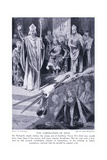 The Coronation of John, 1920's Giclee Print by Richard Caton Woodville II