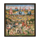 Hieronymus Bosch (1450  1516). Dutch Painter. The Garden of Earthly Delights. Between 1490 and… Giclée-Druck von Hieronymus Bosch