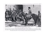 William the Lion Brought before Henry II, 1920's Giclee Print by Frank Gillett