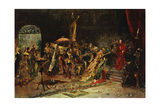 Presentation to the Cardinal, 1877 Giclee Print by Salvador Sanchez Barbudo