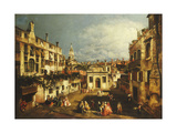The Campo San Gallo, Venice, C.1740s Giclee Print by Michele Marieschi