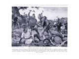 Defeat and Death of King Oswald Ad642, 1920's Giclee Print by Archibald Webb
