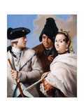 A Gentleman in a Tricorn Hat Holding a Cane, a Gentleman in a Black Phrygian Bonnet and a Young… Giclee Print by Lorenzo Baldissera Tiepolo