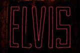 Elvis Presley's Name in Lights Photographic Print