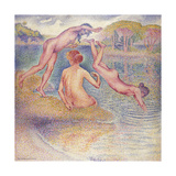 The Bathers (The Joyful Bathing); Les Baigneuses (La Joyeuse Baignade), 1899-1902 Giclee Print by Henri Edmond Cross