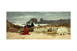 The Return of the Relics; Le Retour Des Reliques Giclée-Druck von Jean or Jehan Georges Vibert