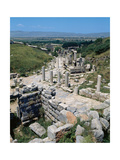 Greek Art. Asia Minor. Ephesus. Overview of Street of Curetes Giclee Print