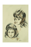 Two Studies of Ellen, the Artist's Daughter Giclee Print by Paul Cesar Helleu